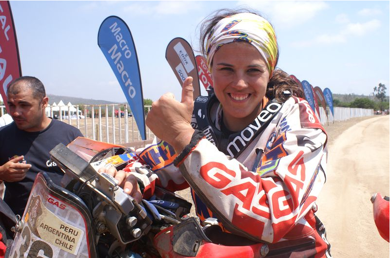 Laia Sanz. Photo courtesy of www.dakar.com
