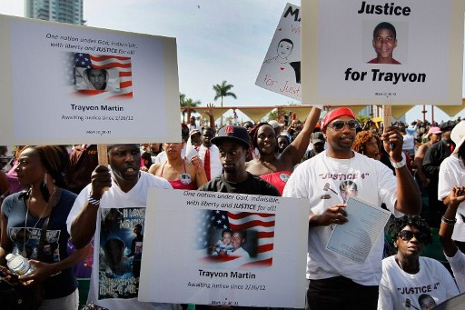 Trayvon Martin supporters gather for a rally in his honor. ©AFP