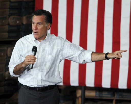 Republican presidential candidate Mitt Romney. ©AFP