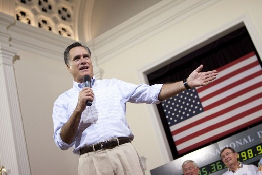 Presumptive Republican presidential nominee and former Massachusetts Gov. Mitt Romney. ©AFP