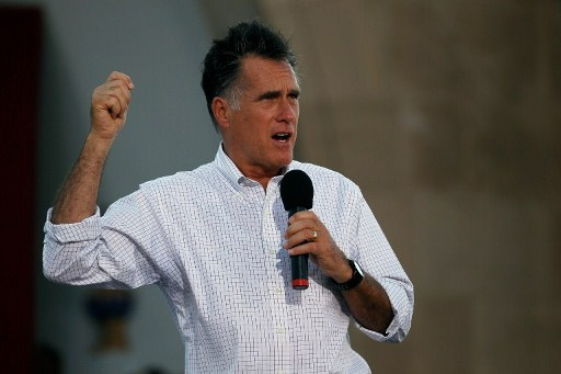 Republican Presidential candidate, former Massachusetts Governor Mitt Romney. ©AFP