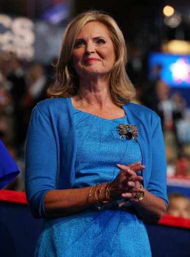 Republican presidential candidate Mitt Romney's wife, Ann Romney. ©AFP