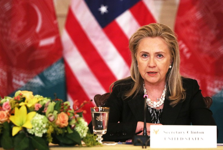 U.S. Secretary of State Hillary Clinton. ©AFP