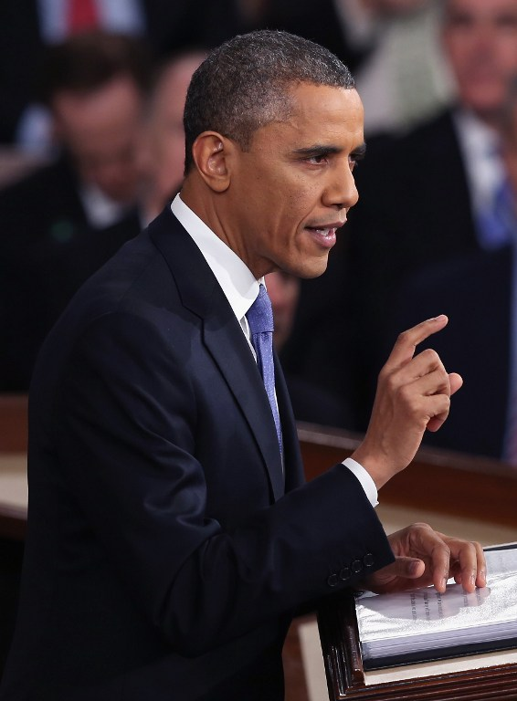 U.S. President Barack Obama delivers his State of the Union speech. ©AFP