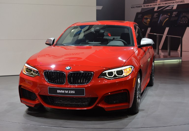 The BMW M 235i is presented during the press preview at the North American International Auto Show January 13, 2014 in Detroit, Michigan.