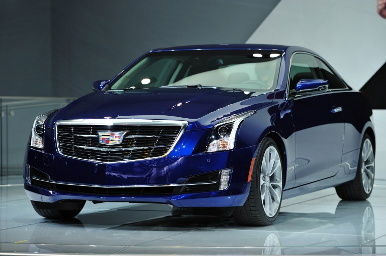 The 2015 Cadillac ATS coupe is unveiled during a press preview at the North American International Auto Show January 14, 2014 in Detroit, Michigan. ©AFP