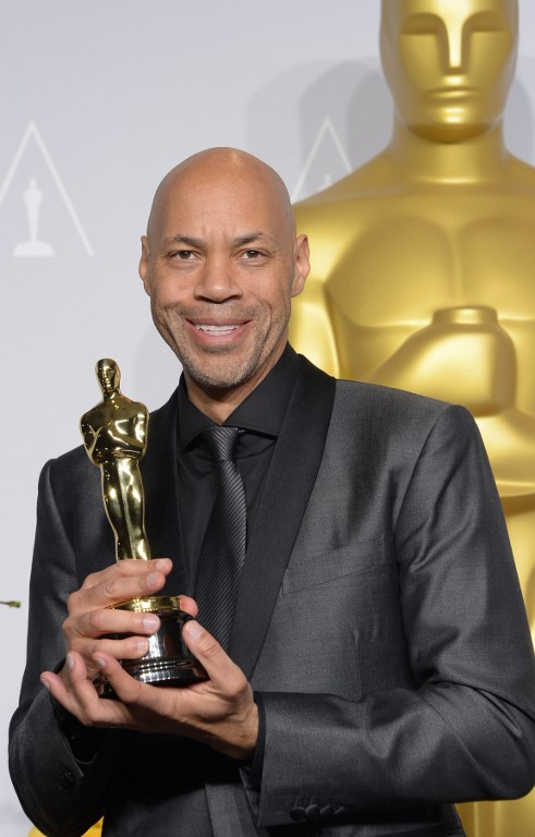 Screenwriter John Ridley, winner of Best Adapted Screenplay for