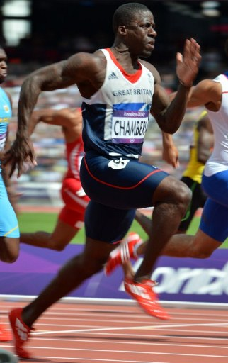 Britain's Dwain Chambers. ©AFP