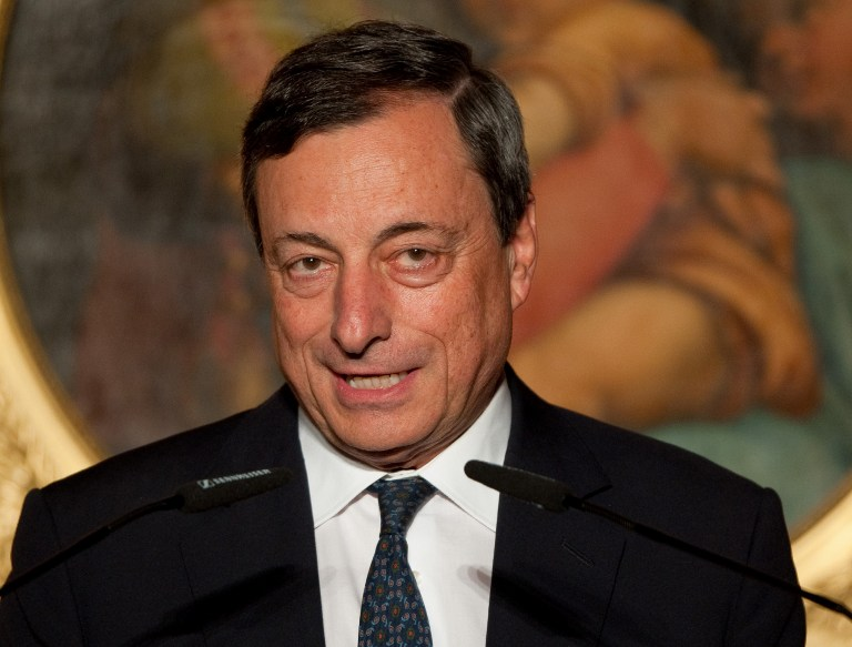 President of the European Central Bank (ECB) Mario Draghi. ©AFP