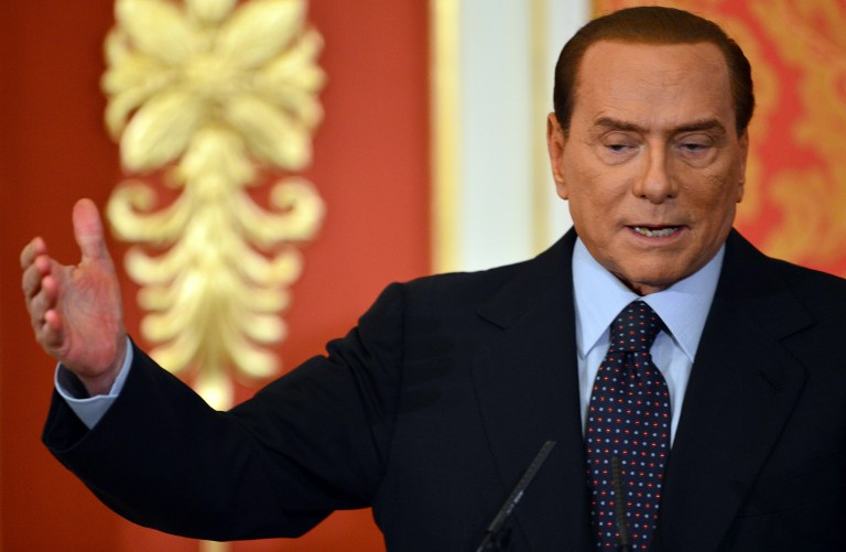 Italy's former Prime Minister Silvio Berlusconi. ©AFP
