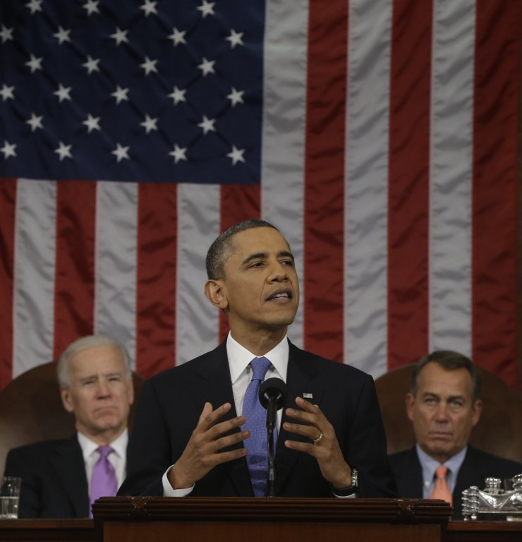 President Barack Obama during the State of the Union address. ©AFP