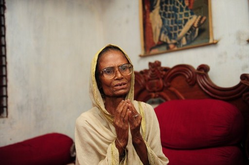 Laksmi Rani, 80, one of the oldest sex workers in the area. ©AFP