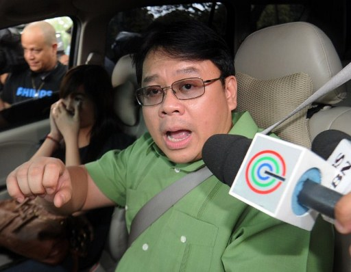 Ferdinand Topacio, spokesperson of former Philippine president Gloria Arroyo. ©AFP