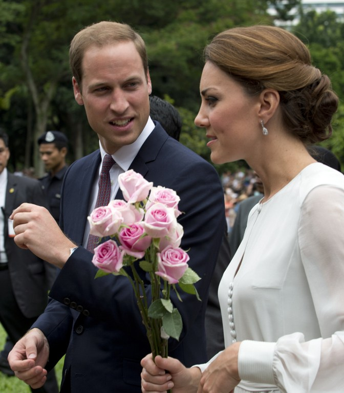 Britain's Prince William and his wife Catherine, the Duchess of Cambridge. ©AFP