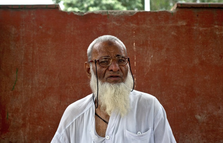 Elderly Indian doctor Mohammed Gyas. ©AFP
