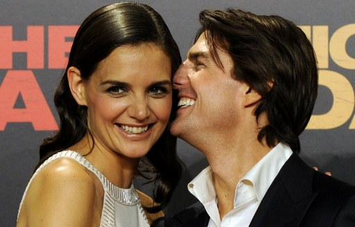 Tom Cruise and Katie Holmes. ©AFP