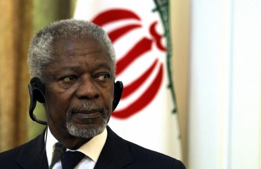 United Nations and Arab League envoy for the crisis in Syria Kofi Annan. ©AFP