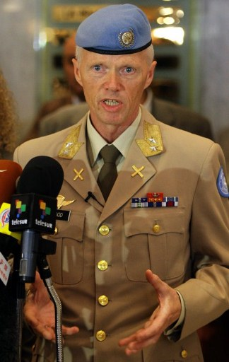 Major General Robert Mood, head of the UN Supervision Mission in Syria. ©AFP