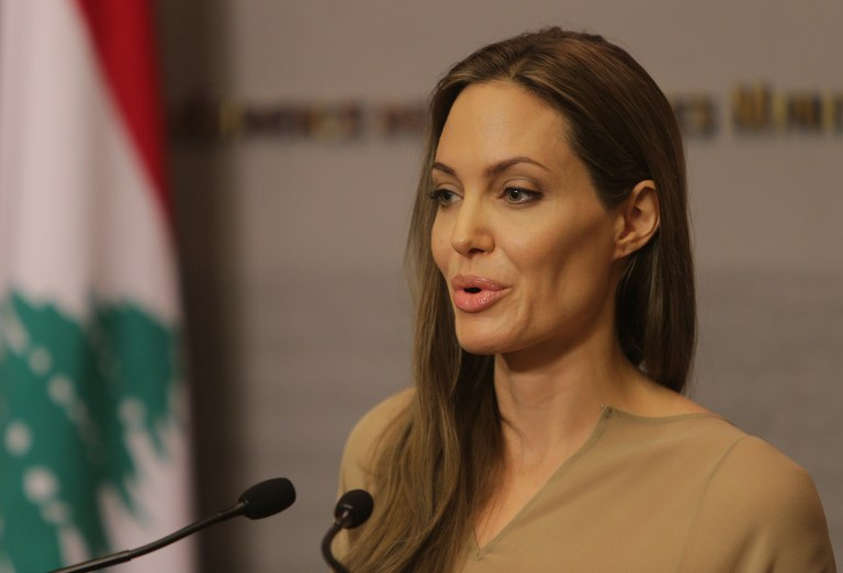 US actress and UNHCR special envoy Angelina Jolie. ©AFP