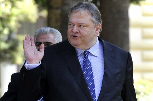 The leader of the Greek Socialist Party Evangelos Venizelos. ©AFP