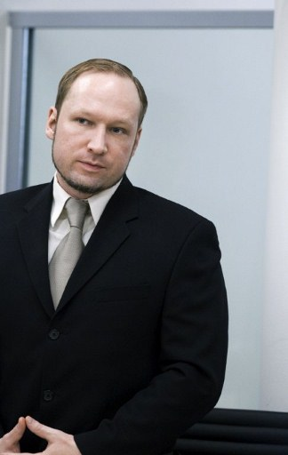 Murder- and terrorcharged Anders Behring Breivik. @AFP