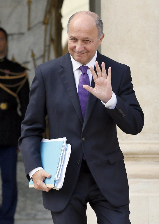 French Minister of Foreign Affairs Laurent Fabius. ©AFP