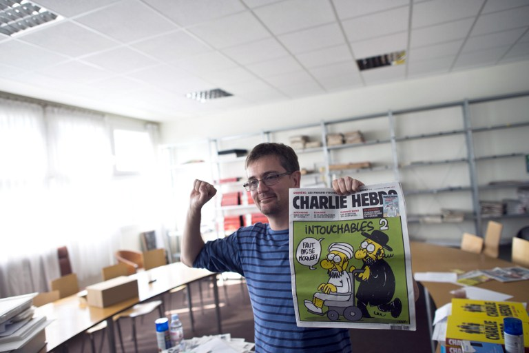 French satirical weekly Charlie Hebdo's publisher and cartoonist. ©AFP