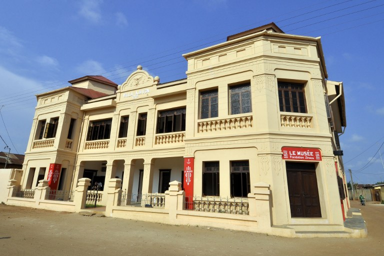 the renovated villa Ajavon, which was originally built in 1922, where the new Zinsou museum and contemporary arts center has been established, in Ouidah.