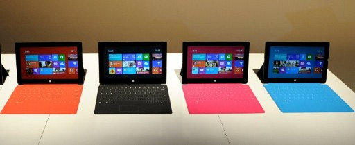 Microsoft introduces Microsoft's new tablet SURFACE. ©AFP