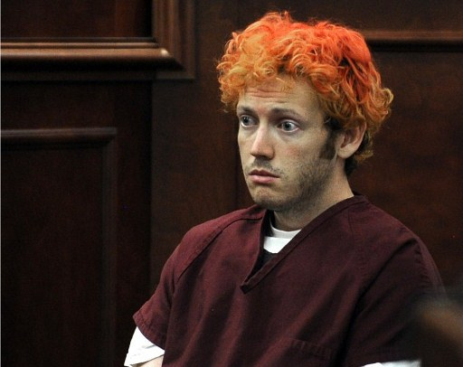 James Holmes appears in court at the Arapahoe County Justice Center. ©AFP