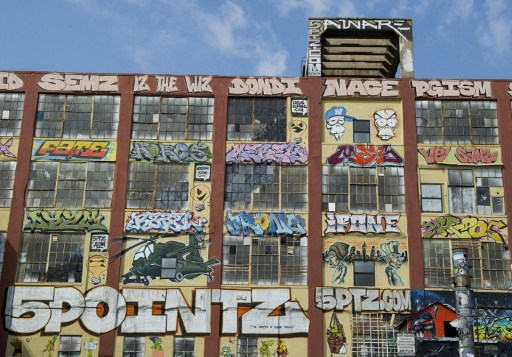A view of the outdoor graffiti art. ©AFP