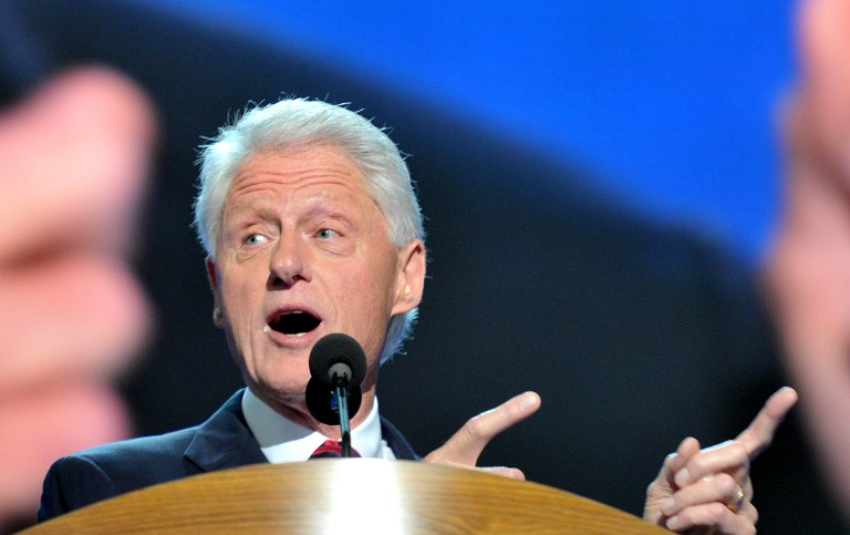 The 42nd President of the United States Bill Clinton. ©AFP