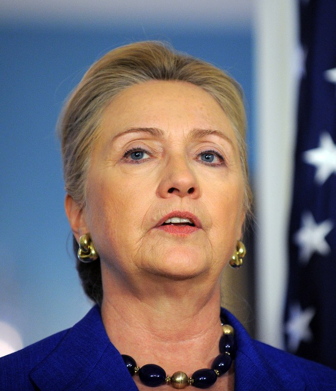 US Secretary of State Hillary Clinton. ©AFP