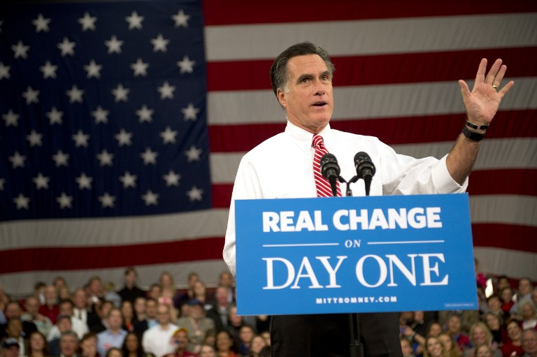 US Republican Presidential candidate Mitt Romney. ©AFP