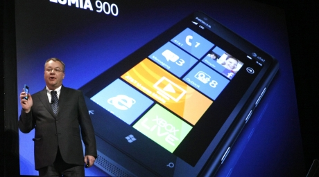 New Nokia Lumia 900. ©REUTERS/Rick Wilking