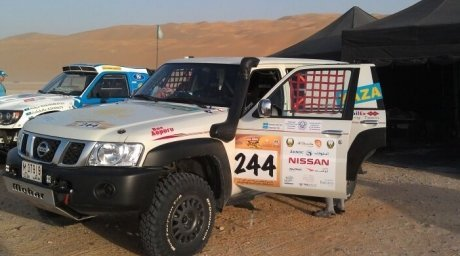 The offroader of Marat Abykayev and Zhanat Zhalimbetov. Tengrinews.kz©