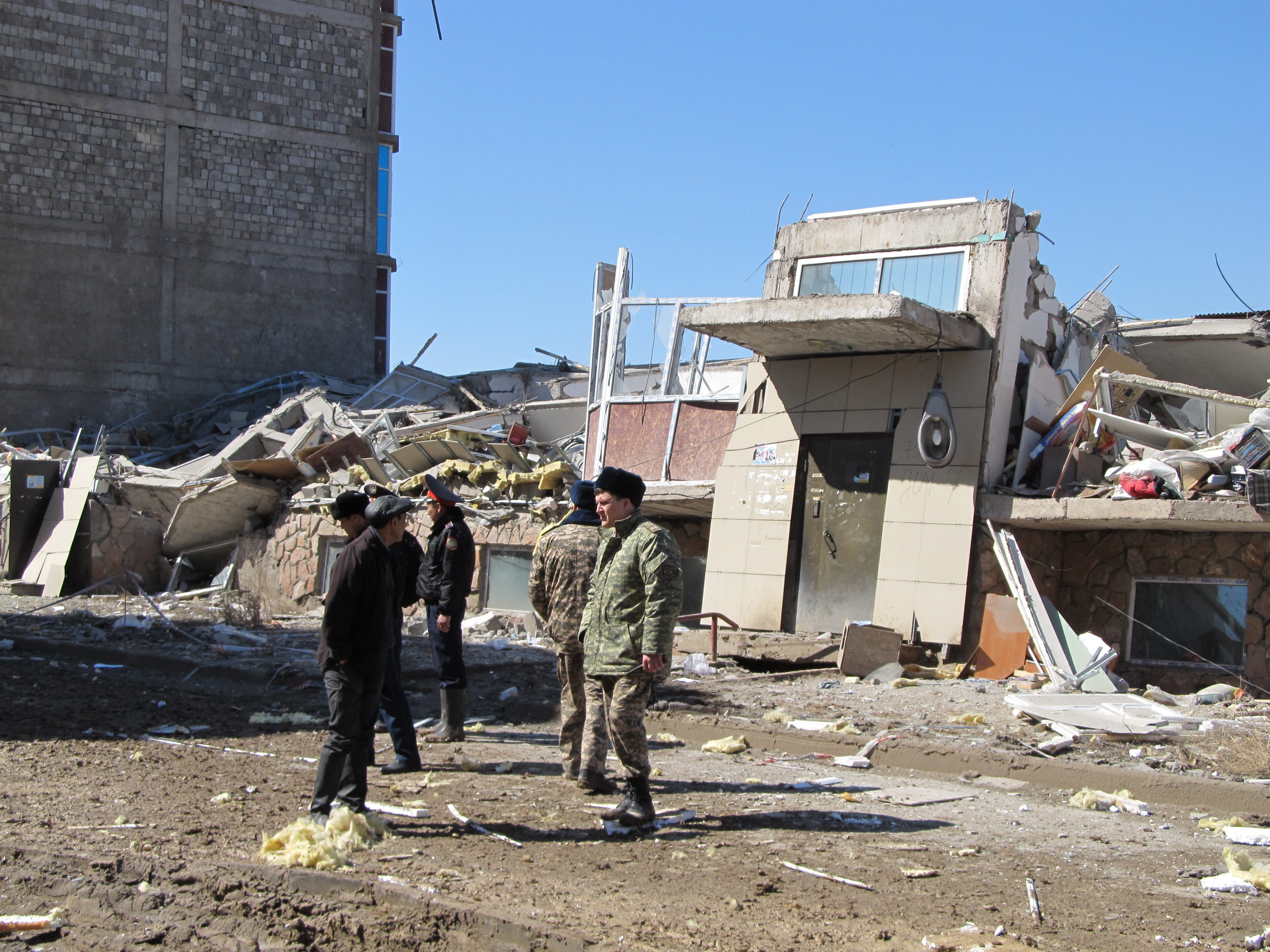 A collapsed building in Bessoba region of Karaganda