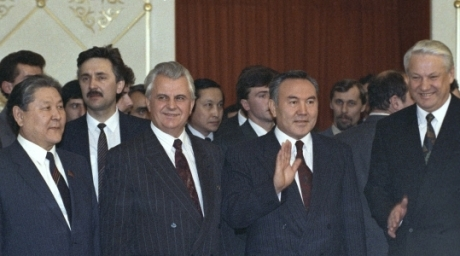 The heads of the states after signing of a Commonwealth treaty in Almaty, on December 21, 1991