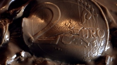 A chocolate image of eurozone. ©AFP