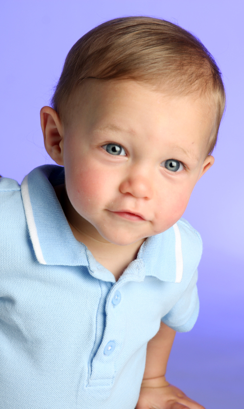 Ethan at one year. He will be 2 in March of 2013. Photo courtesy of Angie Foster