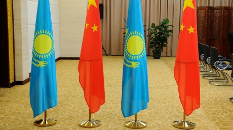 Kazakhstan China flags