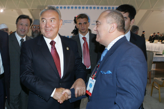 President Nazarbayev and Bizhan Faramarzi at the Fourth Kazakhstan Investment Summit in Almaty in June 2010. Photo courtesy of Bizhan Faramarzi
