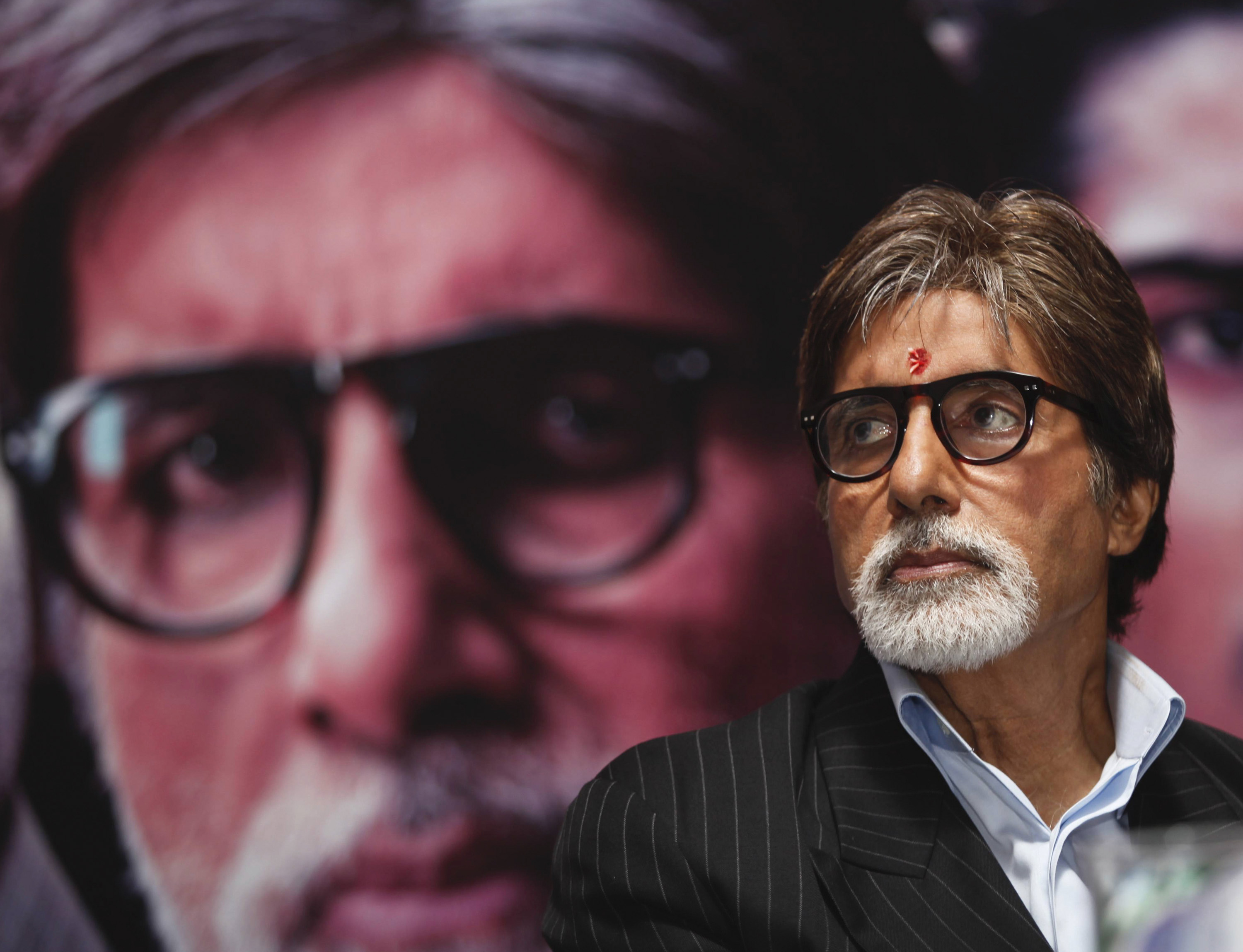 Bollywood actor Amitabh Bachchan. @REUTERS/Rupak De Chowdhuri