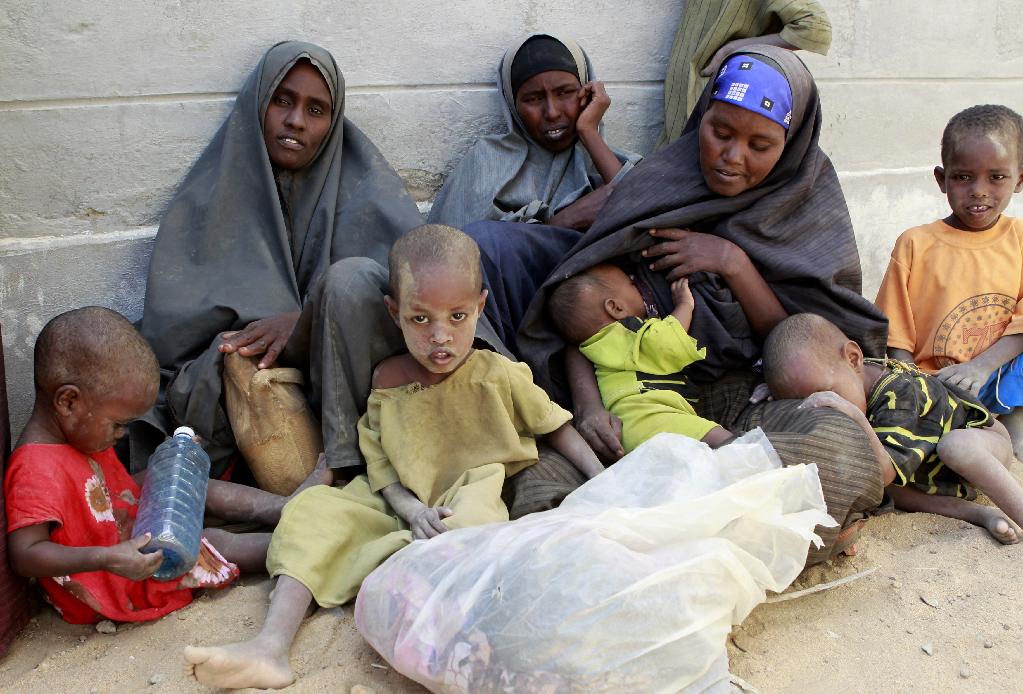 Newly arrived refugees from Barane in Lower Shabelle region in Somalia. ©REUTERS/Thomas Mukoya