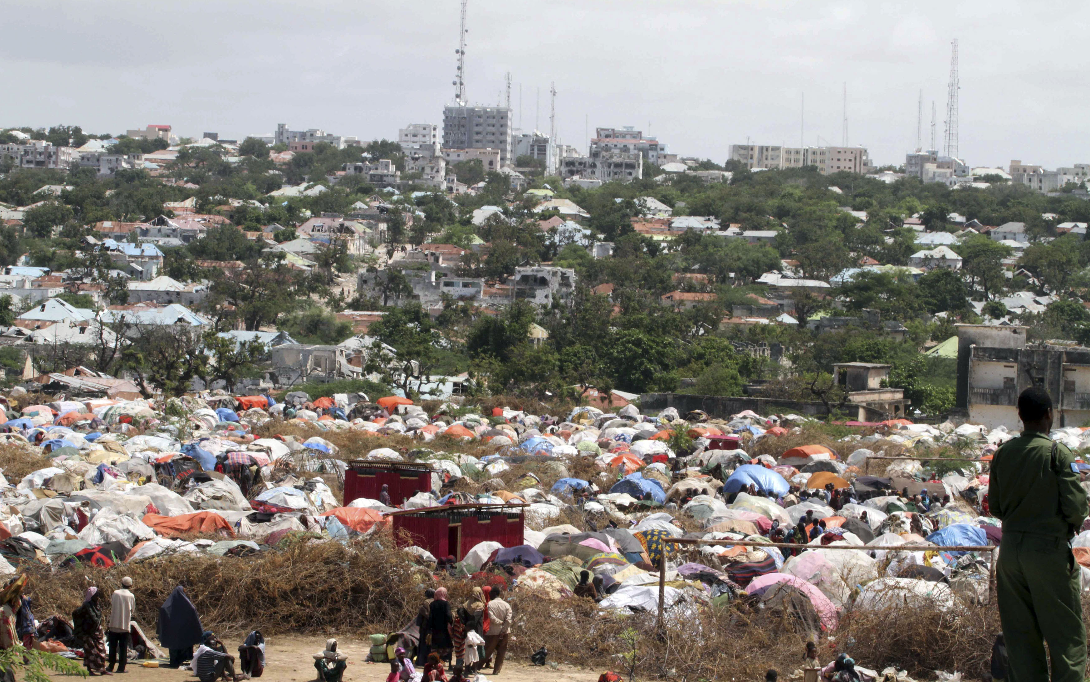 A general view of Camp Seyidka, a settlement for internally displaced people in Somalia's capital Mogadishu. ©REUTERS/Omar Faruk
