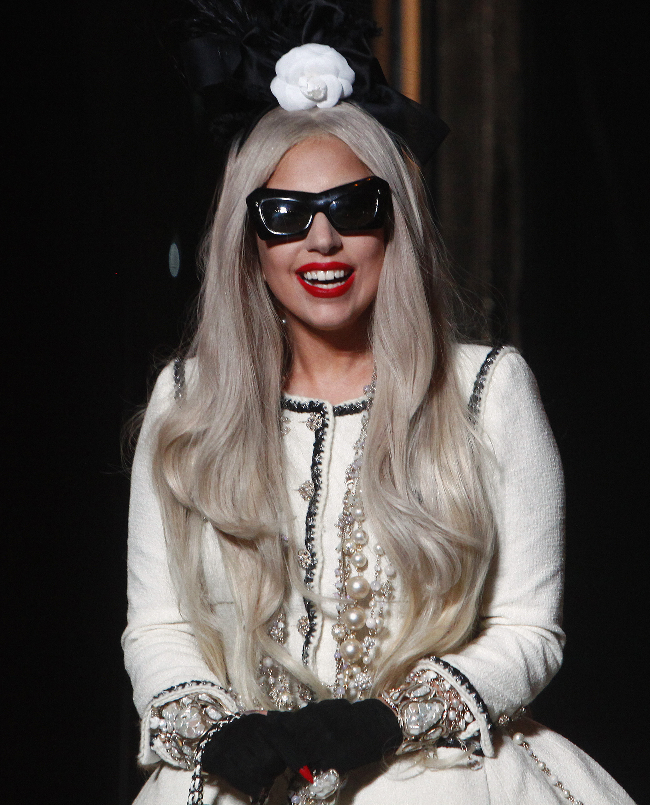Singer Lady Gaga appears at a ribbon cutting ceremony of Gaga's Workshop at luxury department store Barneys in New York. ©REUTERS/ERIC THAYER