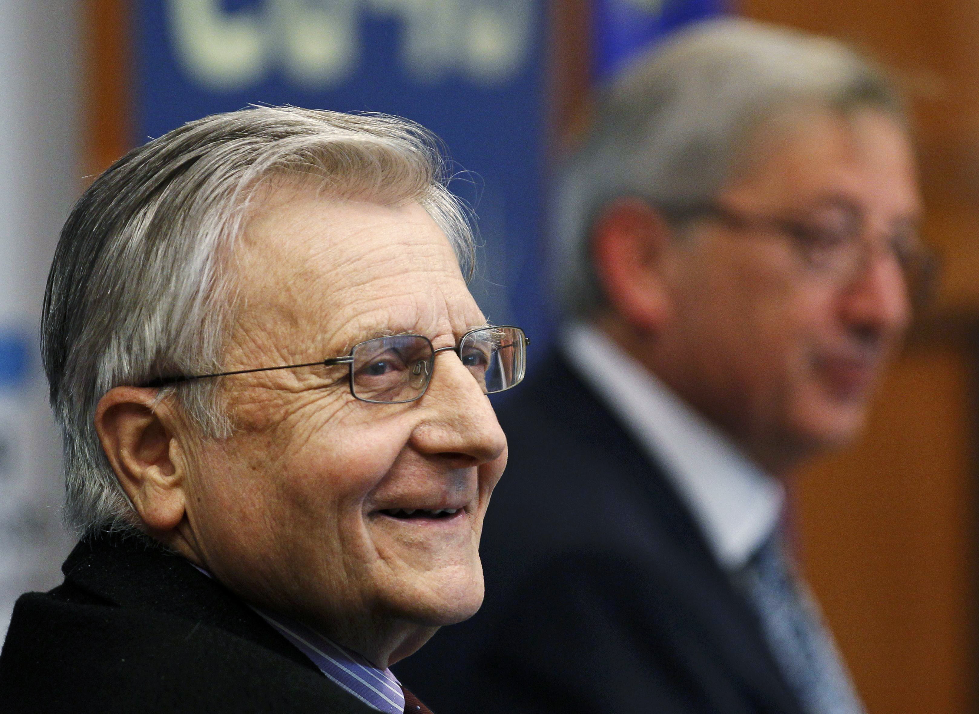 Former European Central Bank President Jean-Claude Trichet (L). @REUTERS/Yves Herman