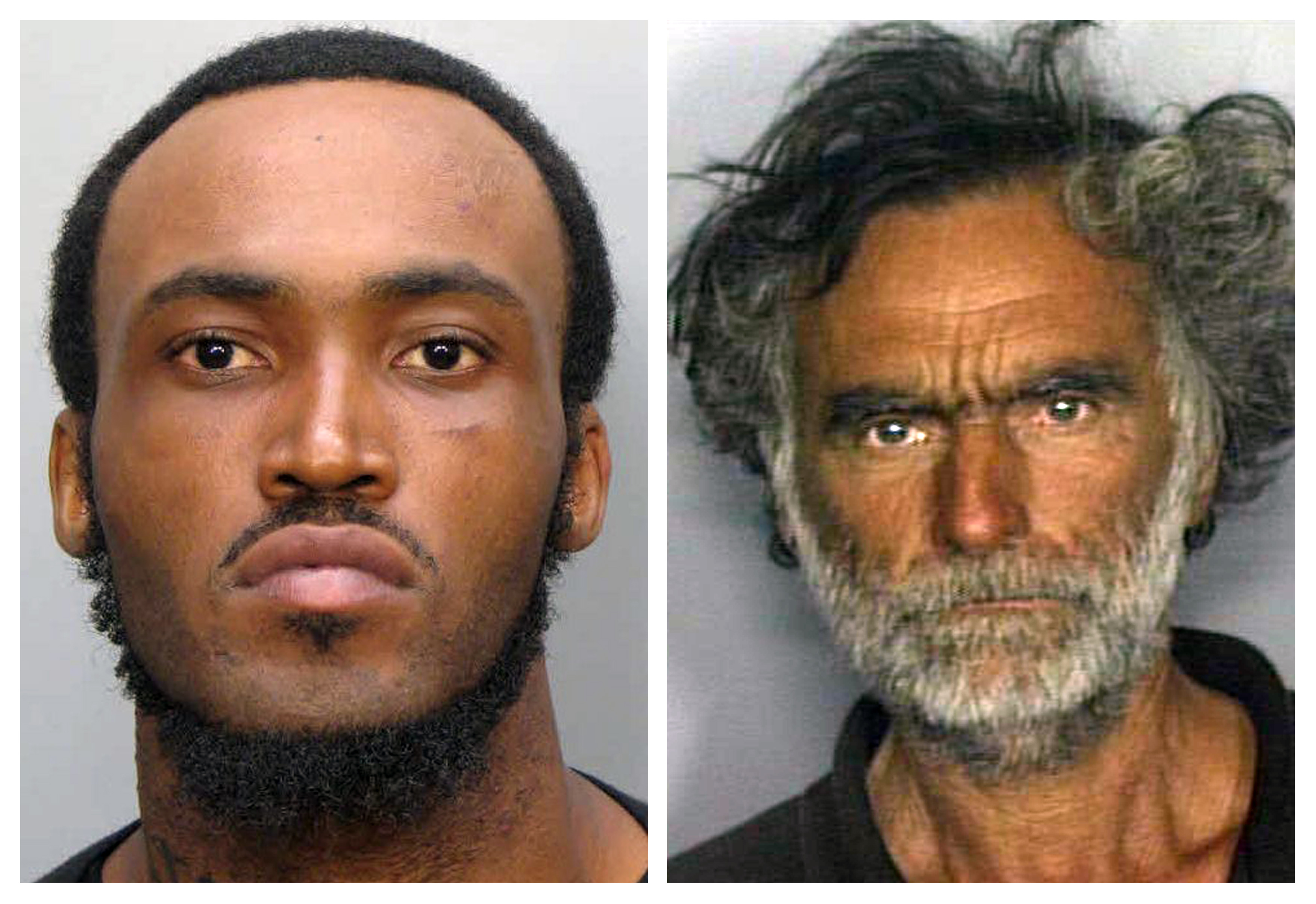 Rudy Eugene and Ronald Poppo are seen in this combination of undated handout photos released by the Miami-Dade Police Department. ©REUTERS