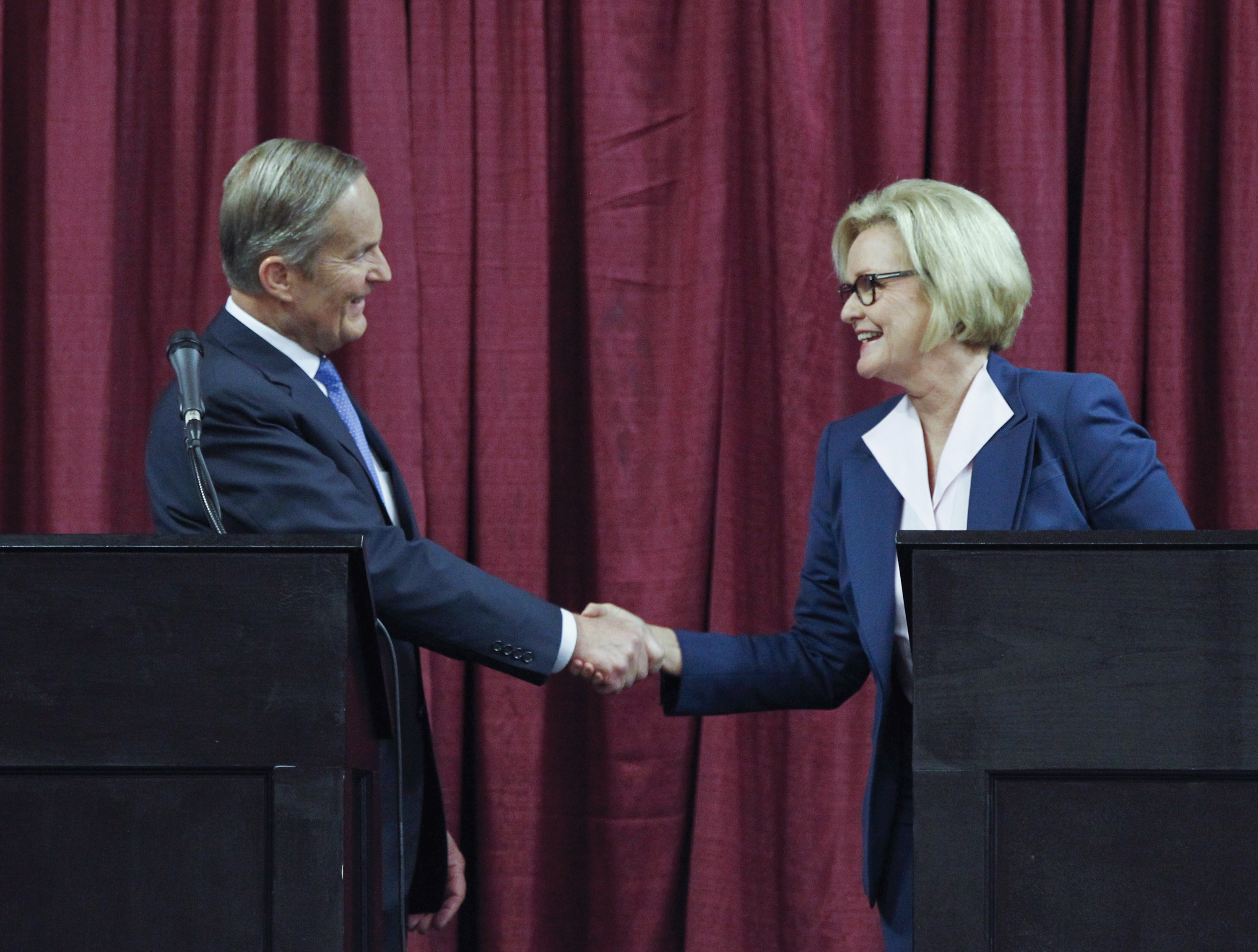 US Senate candidates for Missouri Akin and Senator McCaskill. ©REUTERS
