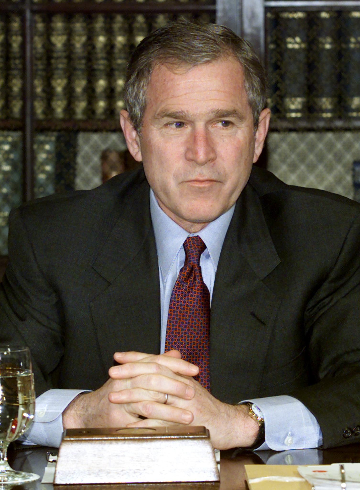 President George W. Bush (served in 2001-2009). ©REUTERS/William Philpott